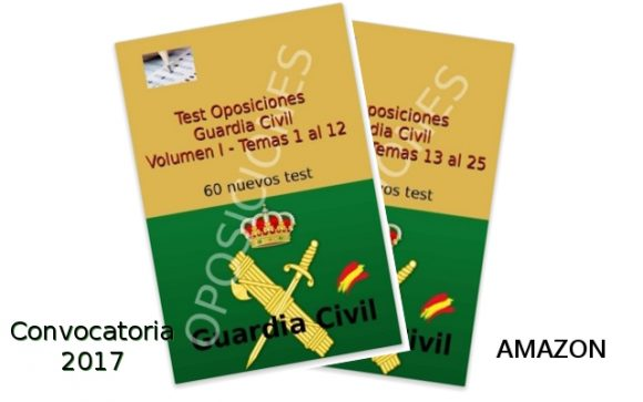 Libros de test para Guardia Civil